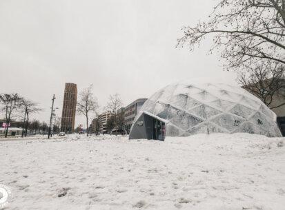 Eindhoven in de sneeuw